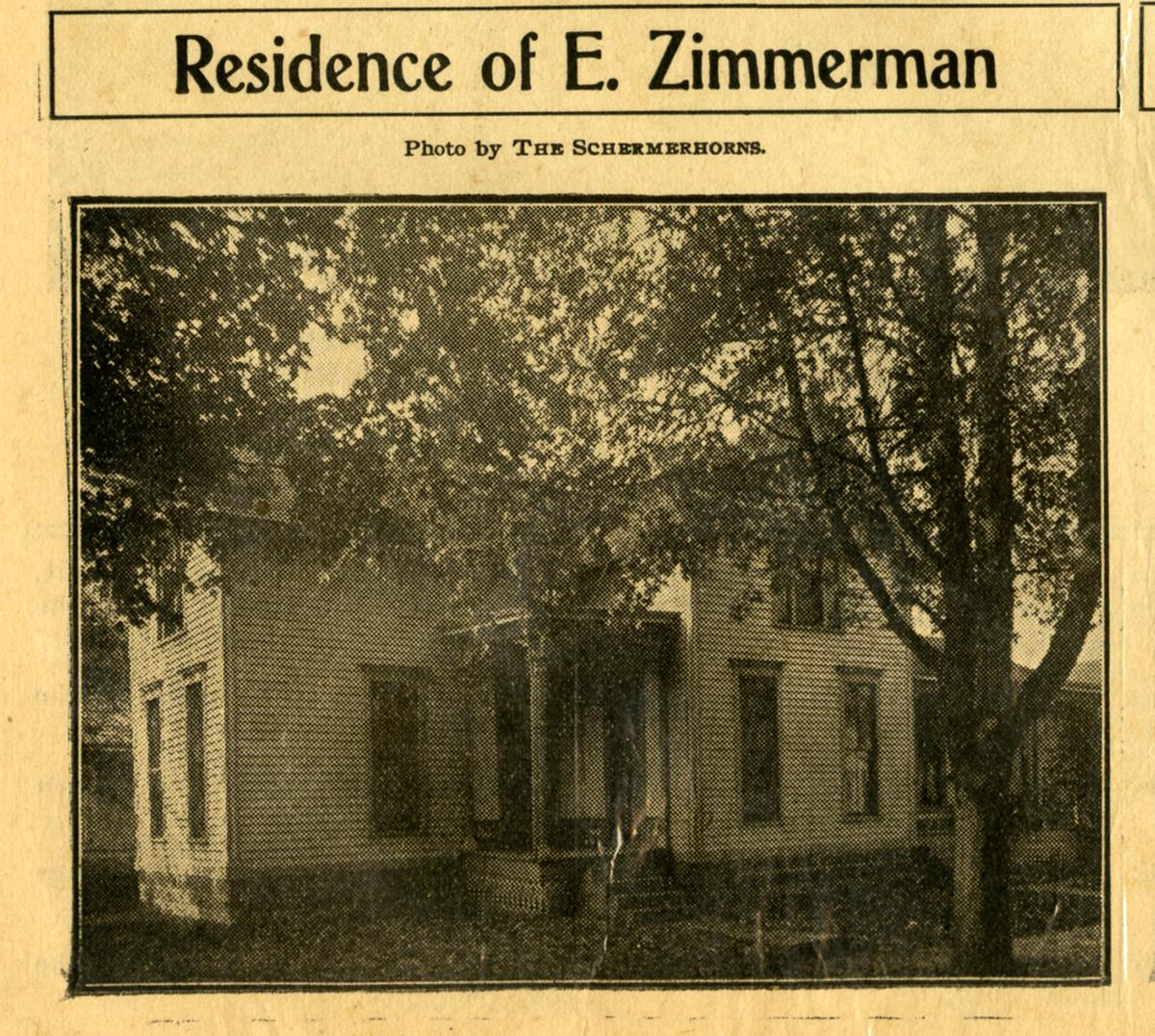 Residence of E. Zimmerman