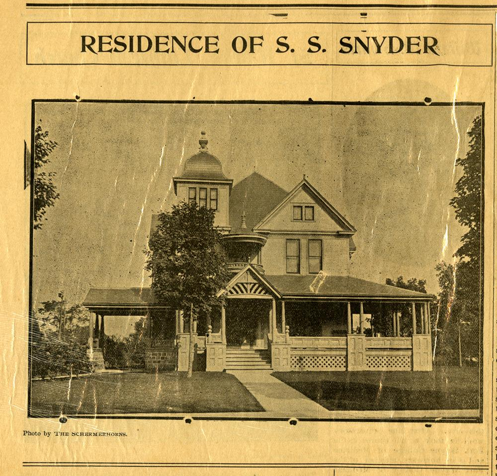 Auburn Courier SS Snyder Home